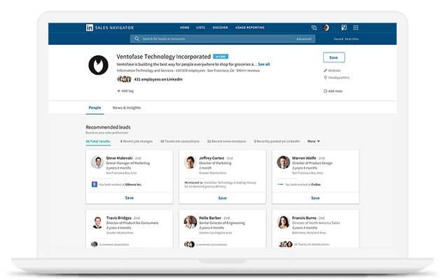B2B-Leadlisten mit LinkedIn Sales Navigator erstellen