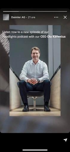 LinkedIn Story Daimler AG