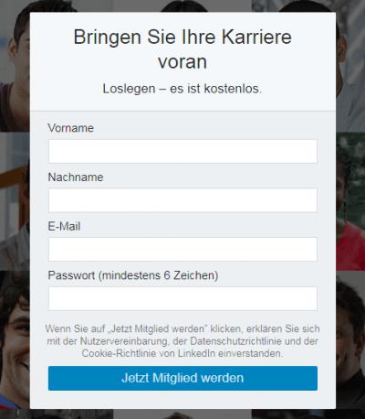Lead-Formular LinkedIn