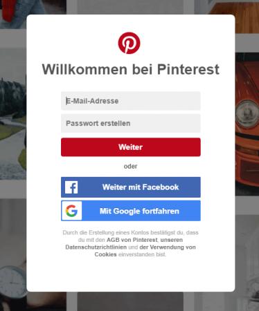 Lead-Formular Pinterest