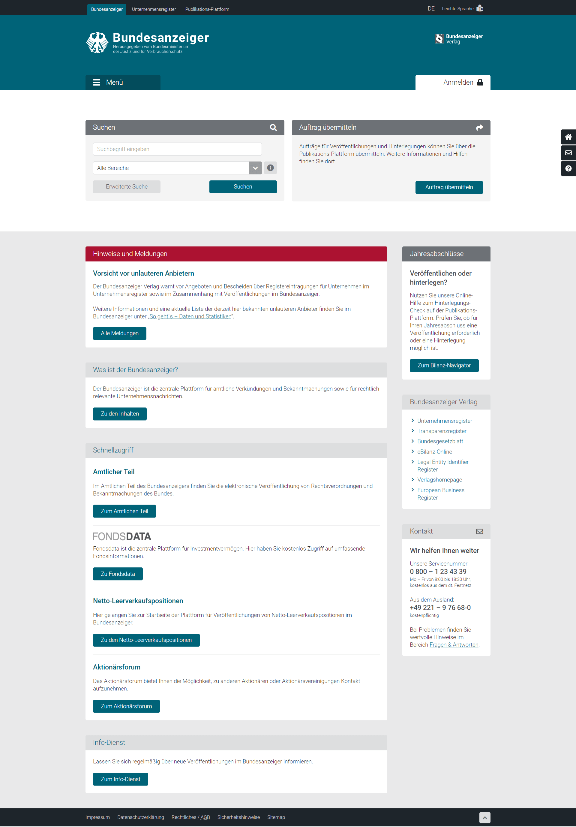 Firmen-API Bundesanzeiger