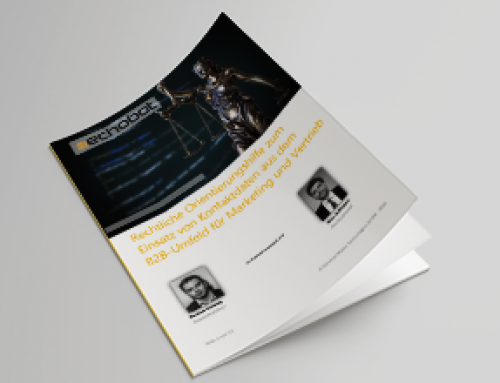 B2B-Marketing und B2B-Vertrieb rechtssicher gestalten – Whitepaper #8