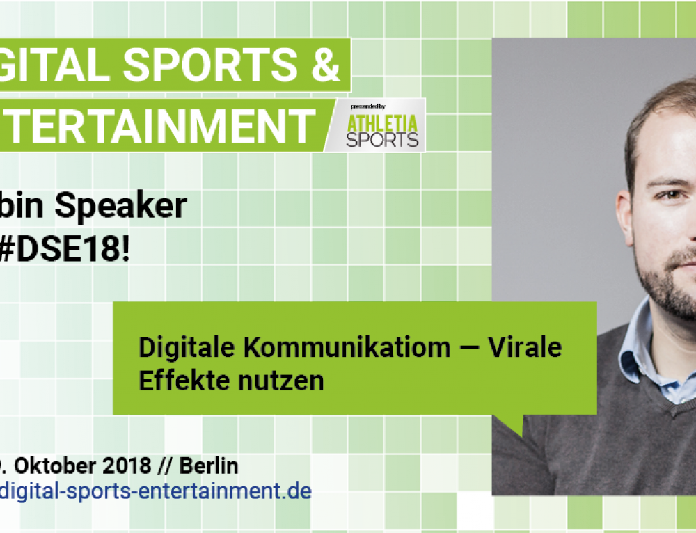 "Vortrag: Echobot beim ESB Kongress ""Digital Sports & Entertainment"""