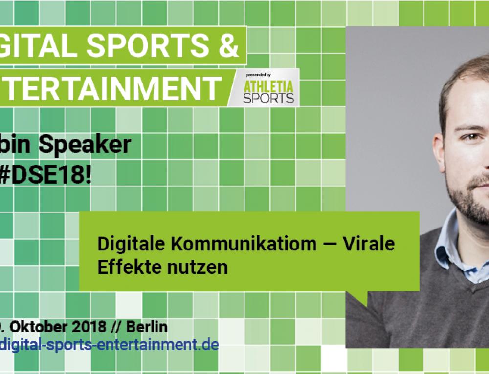 """Vortrag: Echobot beim ESB Kongress """"Digital Sports & Entertainment"""""""