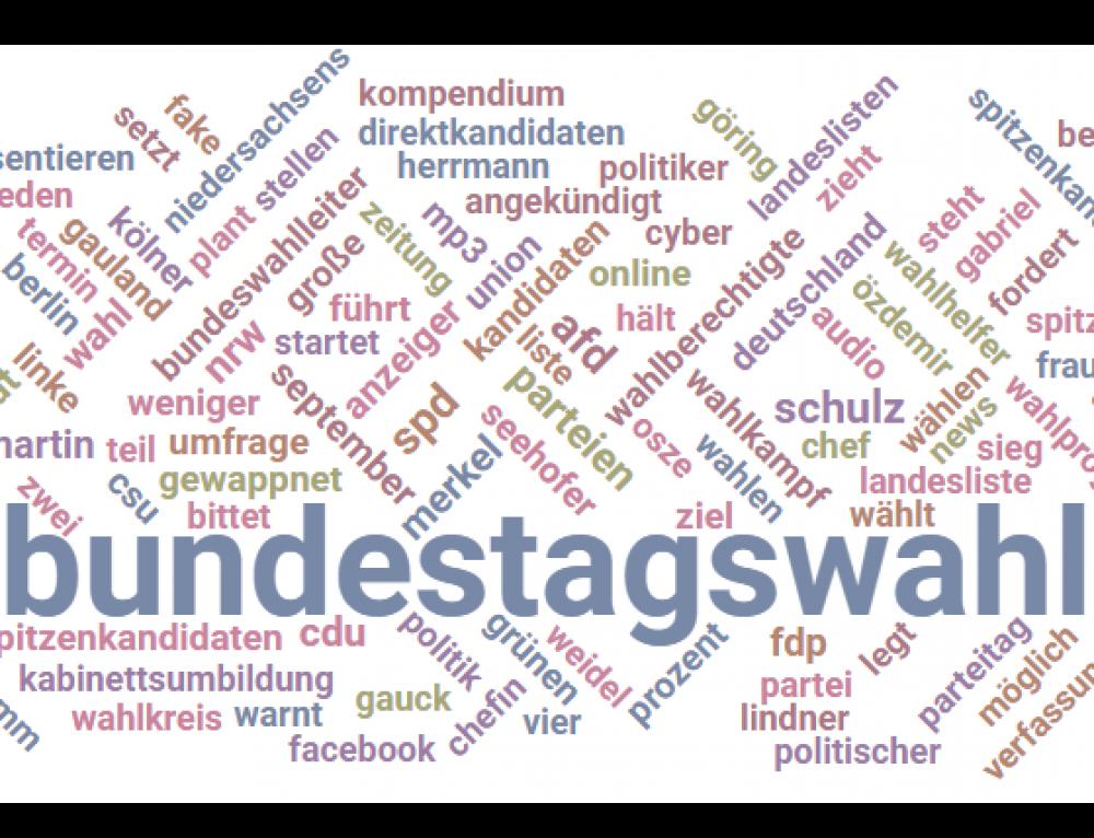 Wahlkampf-Monitoring zur Bundestagswahl 2017