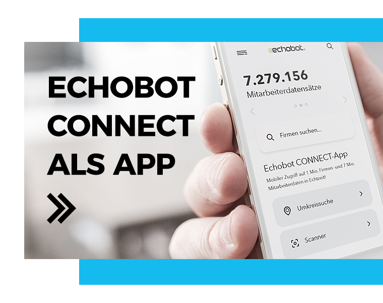 Echobot CONNECT als APP