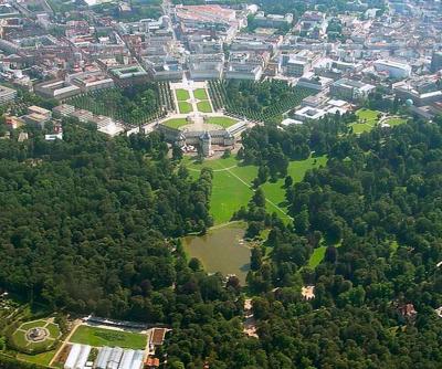 Schloss Karlsruhe von oben
