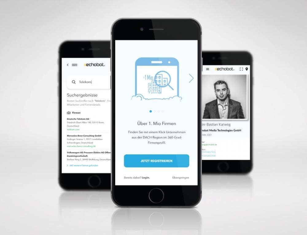 Echobot CONNECT App: Geschäftsrelevante Informationen aus der Hosentasche