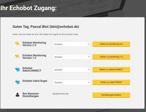 Neu: Der zentrale Echobot-Login