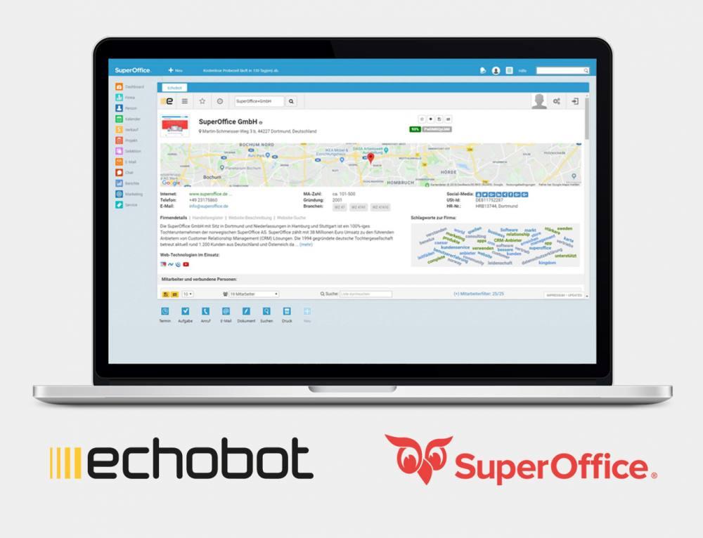 Echobot & SuperOffice: Eine Partnerschaft für valide CRM-Daten